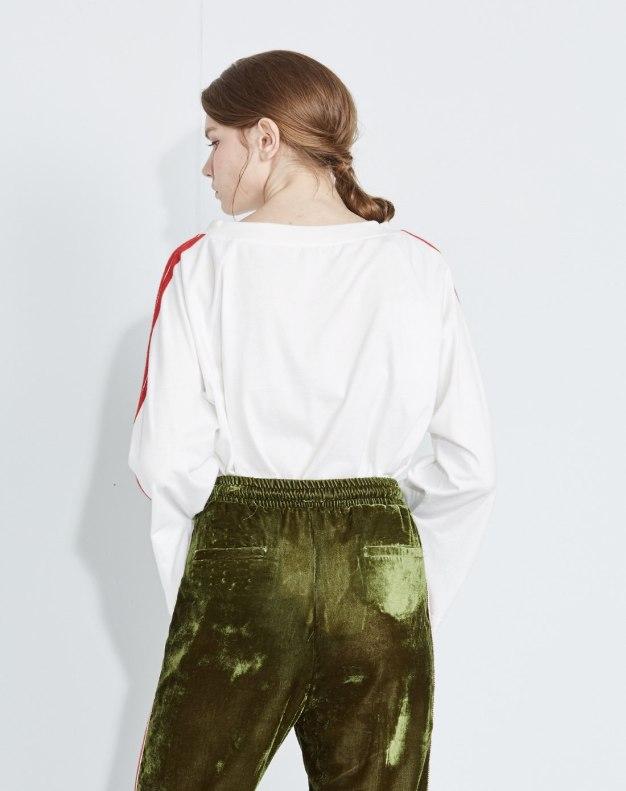 화이트 기타 긴소매 표준 여성 티셔츠