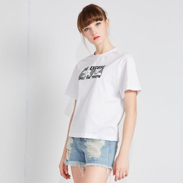 화이트 여성 티셔츠