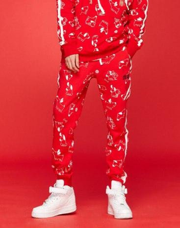 Red Light Elastic Long Men's Pants