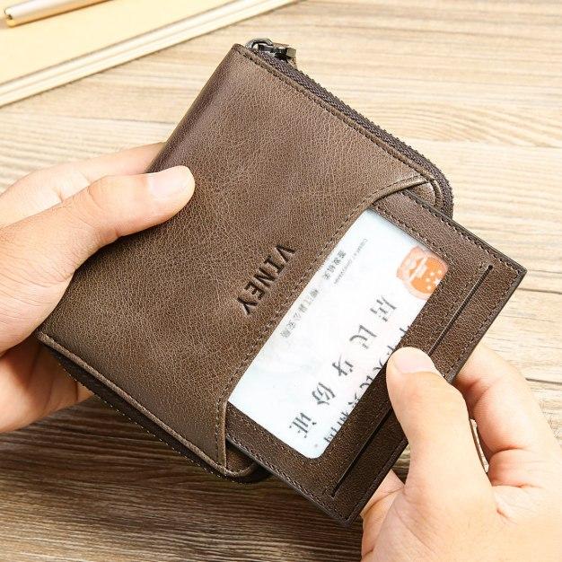 Coffee Plain Small Men's Wallet & Card Case