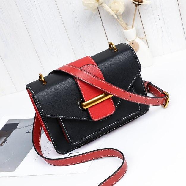 Black Color Block Small Women's Crossbody Bag