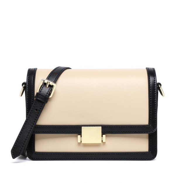 Black Color Block Small Women's Crossbody Bag