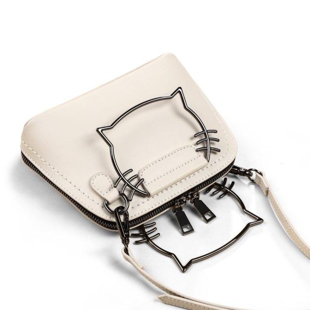 White Plain Small Women's Crossbody Bag