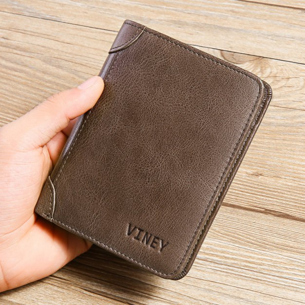Plain Small Men's Wallet & Card Case