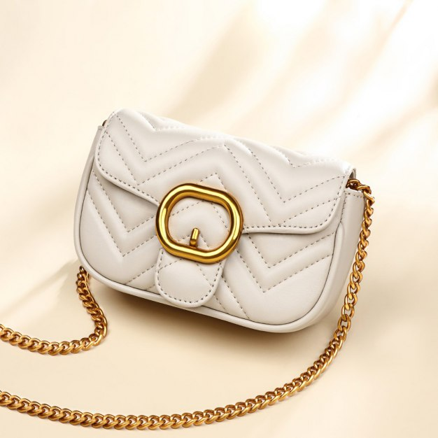 White Plain Small Women's Crossbody Bag