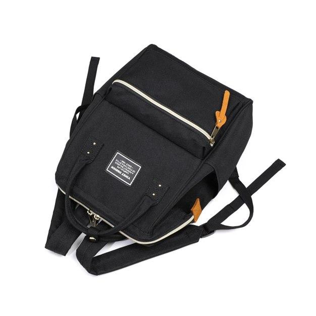 Black Medium Color Block Women's Backpack