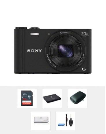 SONY 블랙 디지털 카메라 DSC-WX350( 32GB 패키지 상품, 상세 확인)