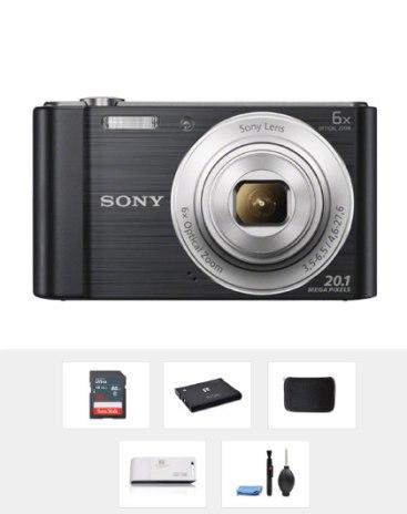 SONY 블랙 디지털 카메라 DSC-W810(16GB 패키지 상품, 상세확인)