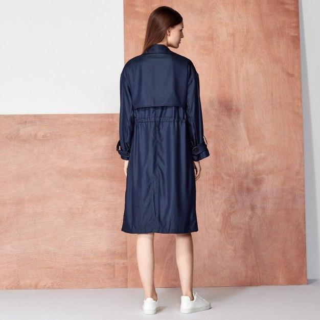 Suit Collar Single Breasted Long Sleeve Women's Windbreaker