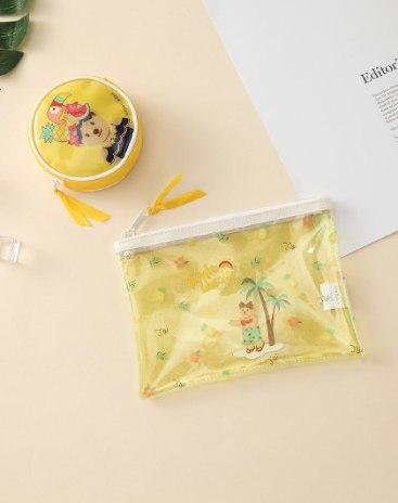 Yellow Pvc Small Women's Wristlet