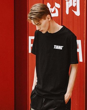 Black Print Short Sleeve Standard Men's T-Shirt