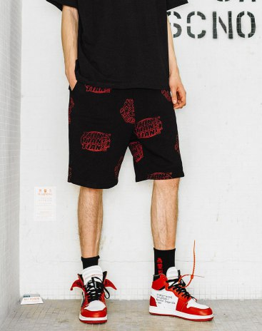 Black Inelastic Standard CroppedPants Men's Pants