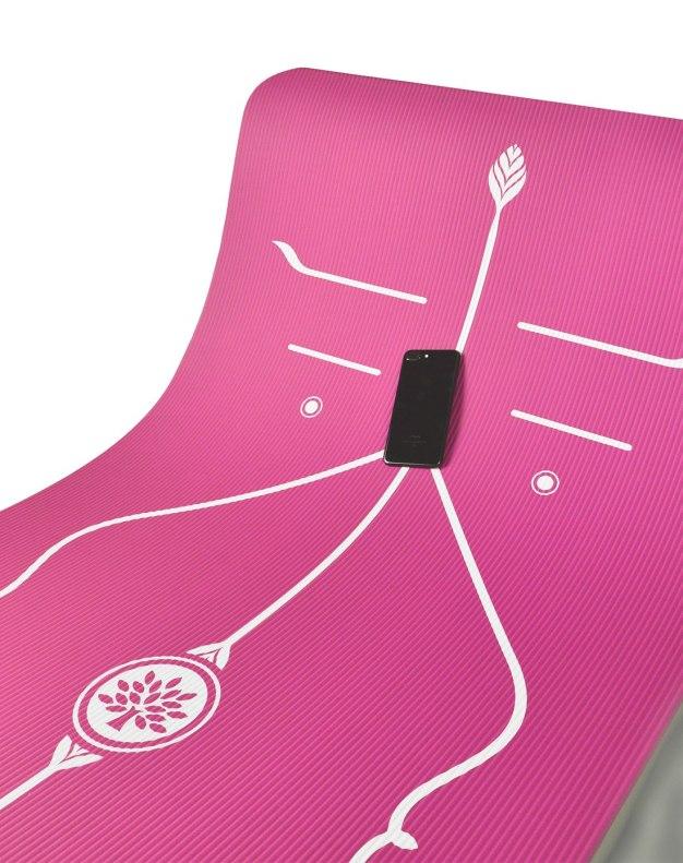 중심잡기용 요가 매트 185*85cm 핑크