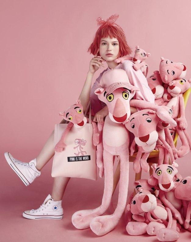 미니소X핑크팬더 컬렉션 핑크팬더 자이언트 인형 1m