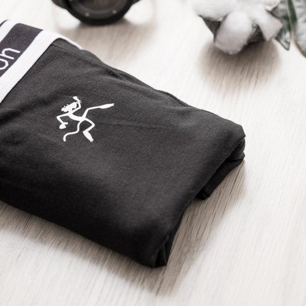 블랙 폴리아미드 퀵드라이 남성 속옷