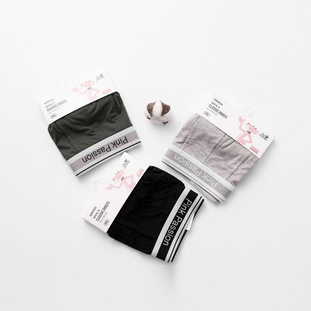 그레이 폴리아미드 퀵드라이 남성 속옷