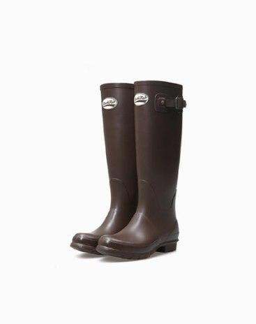 Top Round Head Low Heel High Women's Rain Boots