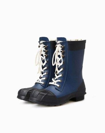 High Top Round Head Low Heel Medium Cylinder Women's Rain Boots