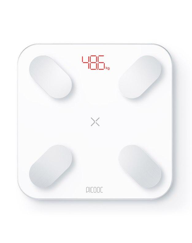 29가지 신체데이터측정! 피쿡 미니 스마트 인바디 체중계 화이트
