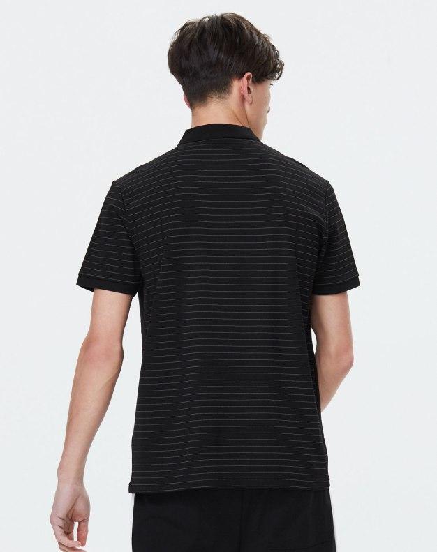 Black Neck Short Sleeve Standard Men's Polo