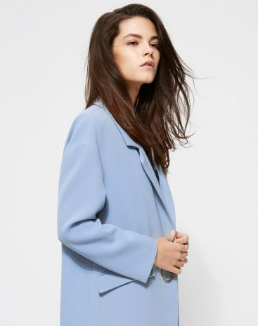 Lapel One Botton Long Sleeve Women's Windbreaker