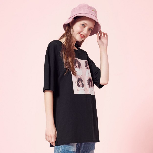 Print Round Neck Short Sleeve Standard Women's T-Shirt
