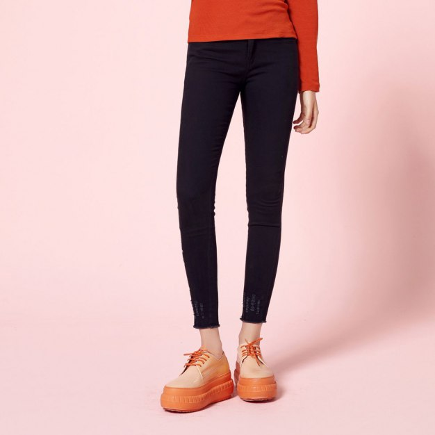 Black Pockets Long Women's Pants