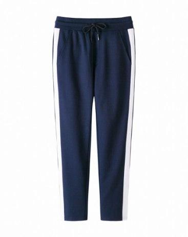 Drawstring Type Light Elastic Standard Long Men's Pants