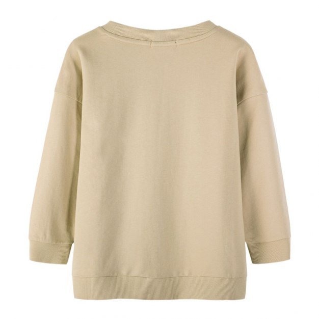 Yellow Round Neck Elastic Long Sleeve Women's Sweatshirt
