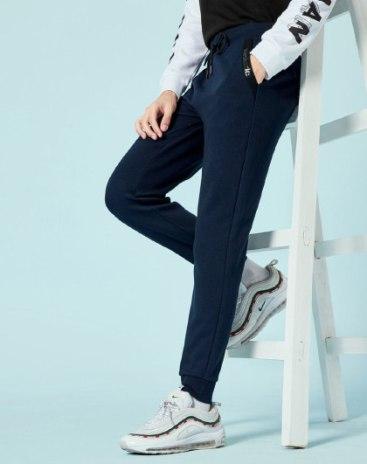 Pockets Light Elastic Standard Long Men's Pants
