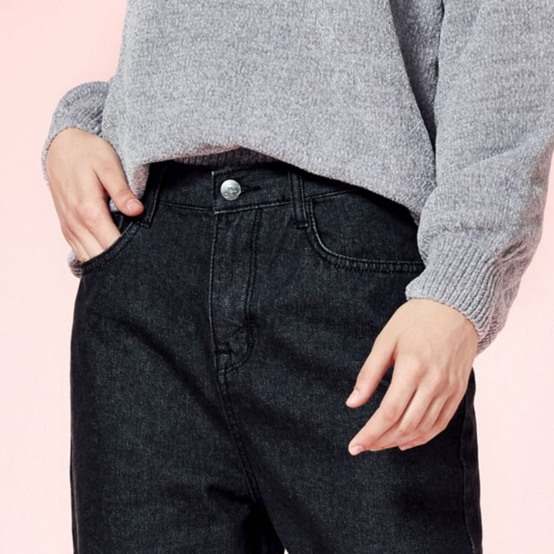 Black Flanging Women's Jeans