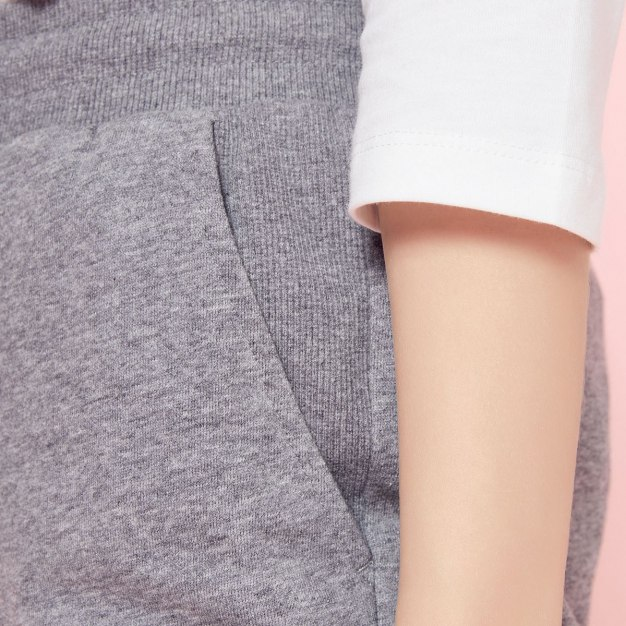 Gray Sewing Long Women's Pants