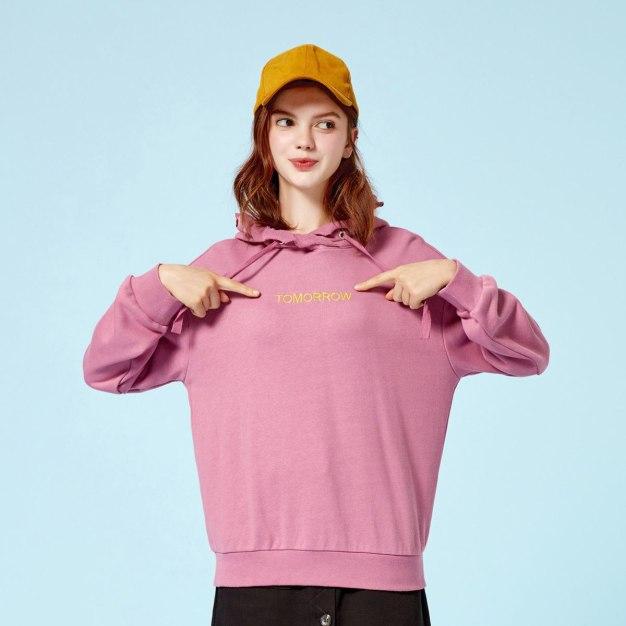 Strappy Neck Elastic Long Sleeve Loose Women's Sweatshirt