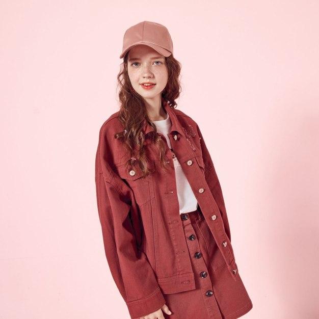 Plain Lapel Single Breasted Long Sleeve Loose Women's Jacket
