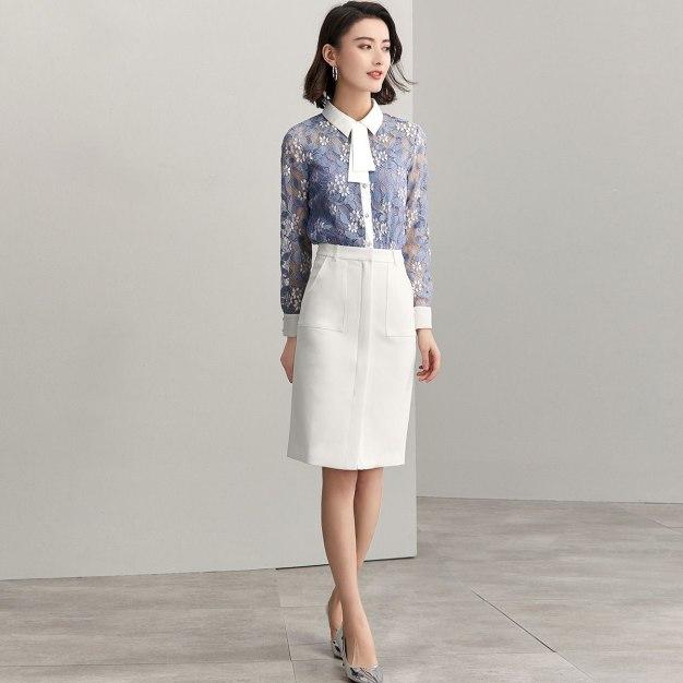 Shirt Collar Single Breasted Long Sleeve Loose Women's Shirt