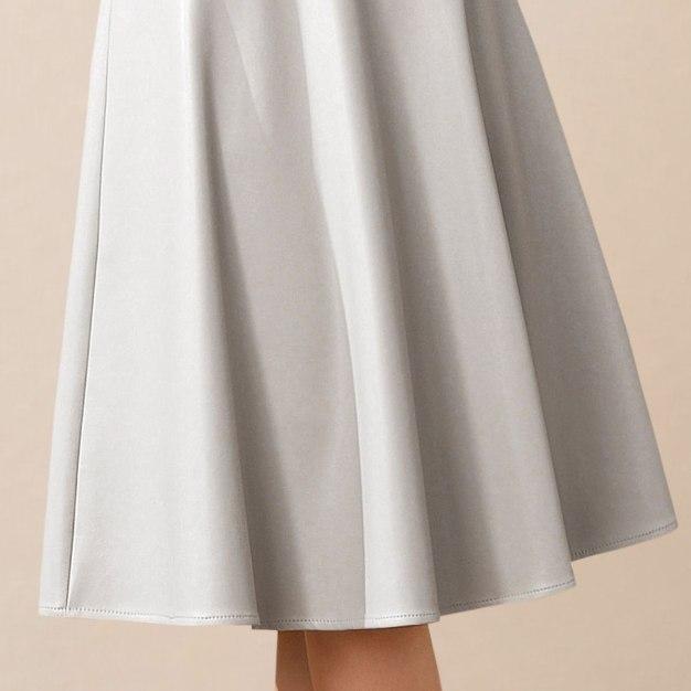 Apricot High Waist 3/4 Length Women's Skirt