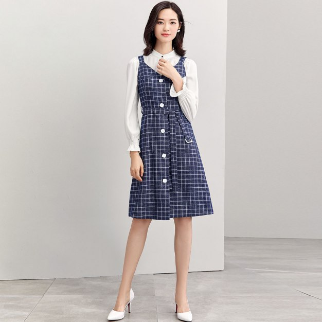 V Neck Sleeveless 3/4 Length A Line Loose Women's Dress