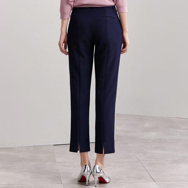 Blue Pockets Cropped Women's Pants