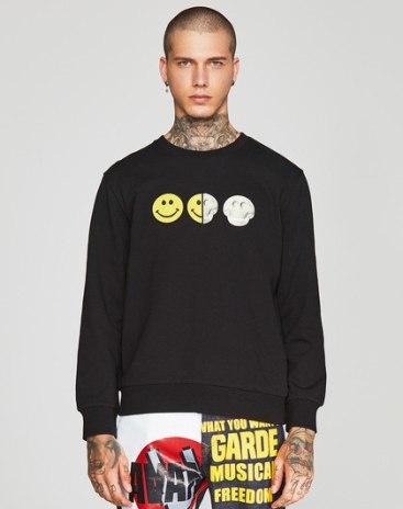 Black Skull Loose Men's Hoodies & Sweatshirt