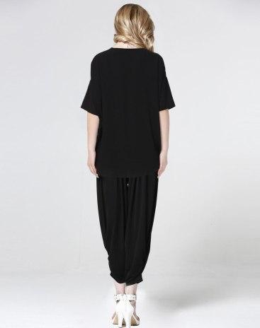 Round Neck Half Sleeve Loose Women's T-Shirt