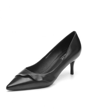 Black Pointed High Heel Women's Shoes