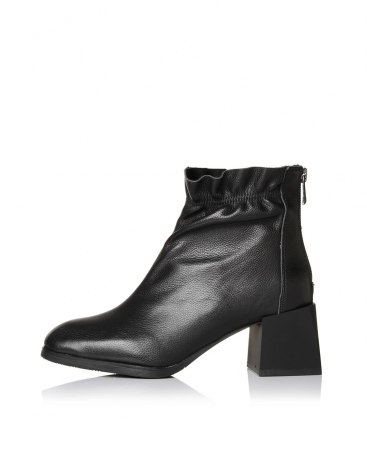 Black Top Square Toe of Shoes High Heel Women's Boots