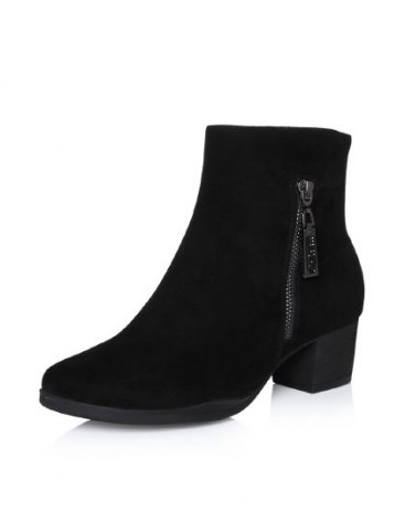High Top Round Head Middle Heel Women's Boots