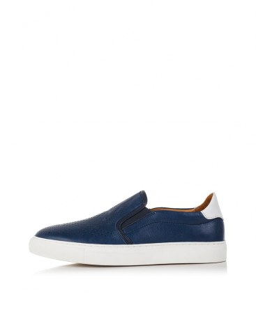 Blue Round Head Men's Loafers