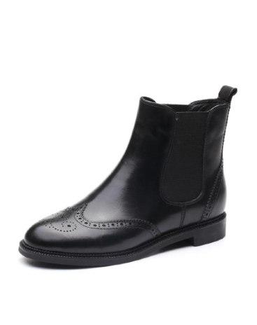 High Top Round Head Low Heel Women's Boots