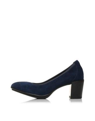 Blue Round Head High Heel Women's Shoes