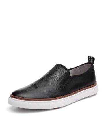 Black Round Head Men's Shoes