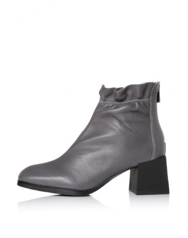 Gray Top Square Toe of Shoes High Heel Women's Boots