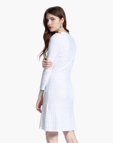 White Others Standard Women's Dress