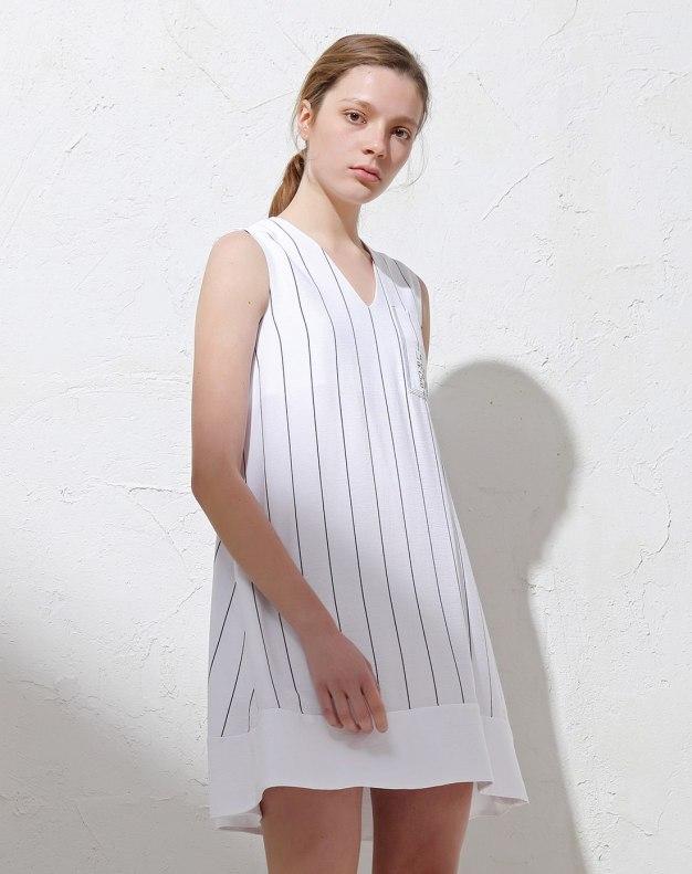 Black V Neck Sleeve Pencil Skirt Women's Dress
